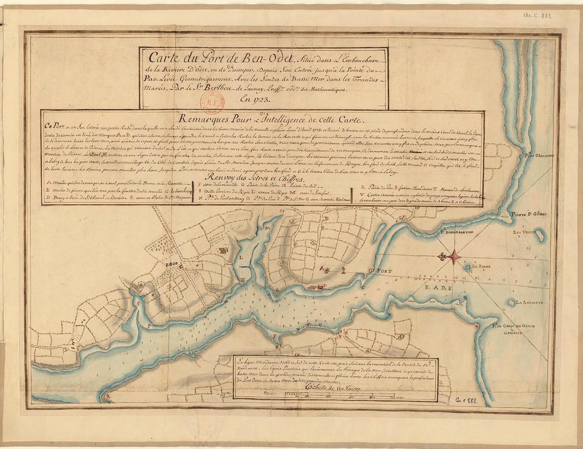 Carte estuaire odet benodet datant de 1723